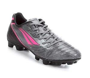 Chuteira Campo Penalty Speed XX - Chumbo e Pink