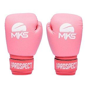 Luva de Boxe MKS Combat New Prospect Color Block - Rosa