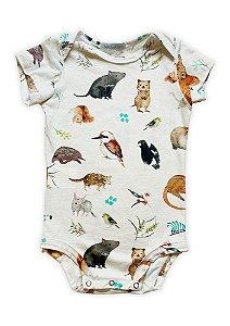 Body bebê estampado silvestrinhos