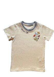Camiseta infantil bordada Serena Flor