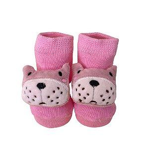 Meia infantil ursa pink