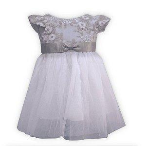 Vestido infantil jacquard lurex