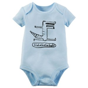 Body bebê manga curta Jacaré haha