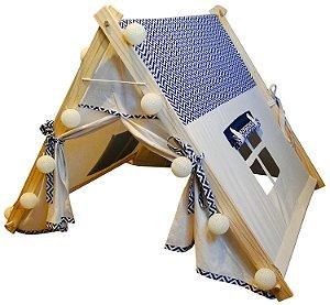 Cabana casinha chevron azul