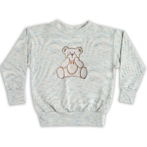 Blusa manga comprida Ted Bear