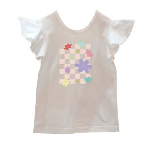 Camiseta babadinho margaridas