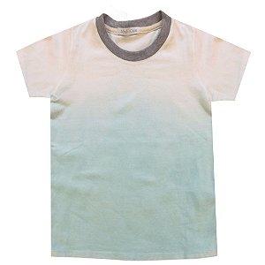 Camiseta efeito ombrê acqua