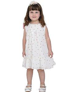 Vestido infantil casual estampado