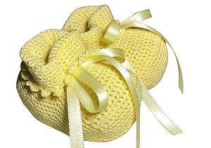 Sapatinho de bebê crochê de algodão