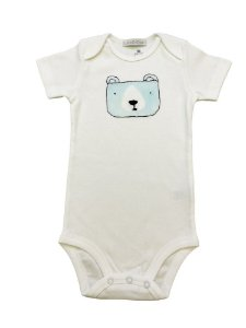 Body infantil urso bordado