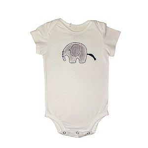 Body infantil bordado elefante