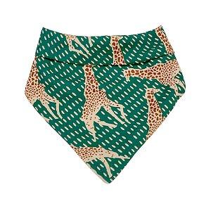 Babador girafa verde viscose