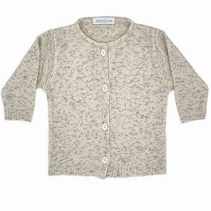 Casaco infantil tricô botão