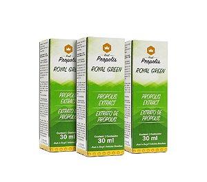 Combo 3un. Extrato de Própolis Verde 30ml - Real Propolis - 3RP30E