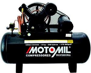 Compressor De Ar 5Hp Trifásico 20/200L - 380/660V