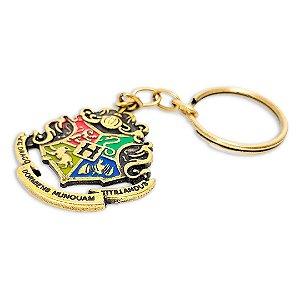 Chaveiro Hogwarts - Harry Potter Metal Dourado