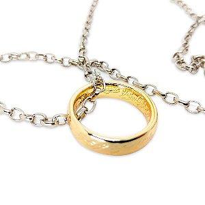Colar Senhor Dos Anéis - Anel Dourado