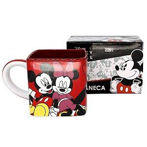 Caneca Cubo Mickey e Minnie De Cerâmica 300ML Zona Criativa