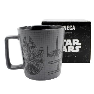Caneca Buck Star Wars Naves De Cerâmica 400ML Zona Criativa