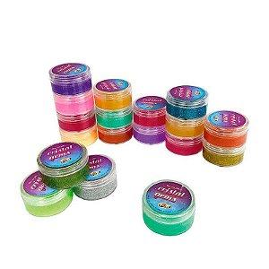 Slime Com Glitter Cristal Gems - Fun