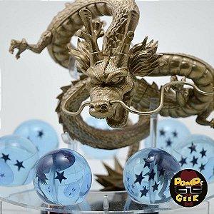 Dragon Ball Z - Dragão Shenlong Dourado e Esferas Azuis