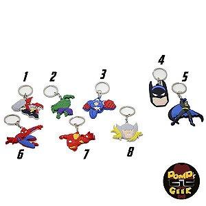 Chaveiros de Borracha Dc e Marvel Modelos