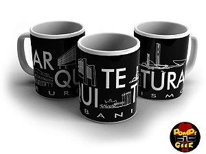 Caneca Cerâmica  Profissões - Arquitetura