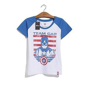 Camiseta Feminina Marvel Guerra Civil Time Capitão América