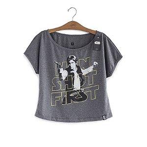 Camiseta Feminina Star Wars Han Shot First