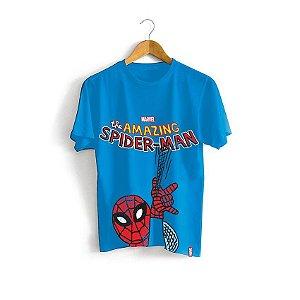 Camiseta Infantil Marvel Homem Aranha Teia