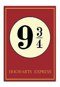 Quadro Harry Potter 9 3/4 Decorativo Personalizado Em Mdf