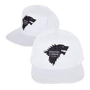 Boné Game Of Thrones Branco Personalizado