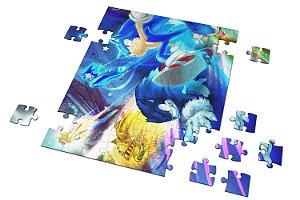 Quebra Cabeça Sonic Com Caixa Personalizado em MDF