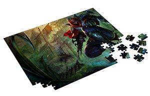 Quebra Cabeça League Of Legends Personalizado Com Caixa em MDF