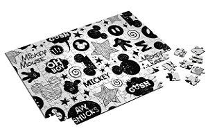 Quebra Cabeça Mickey Personalizado Com Caixa em MDF