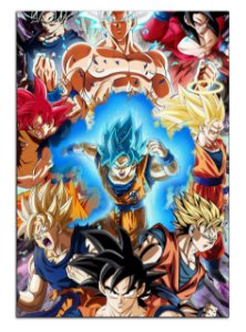 Quadro Decorativo Dragon Ball: Goku Personalizado Em Mdf