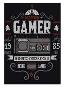 Quadro Decorativo Gamer 1985 Personalizado Em Mdf