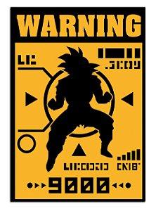 Quadro Decorativo Warning Goku Personalizado Em Mdf