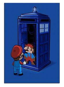 Quadro Decorativo Mario Personalizado Em Mdf