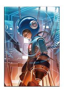 Quadro Decorativo Mega-man Personalizado Em Mdf