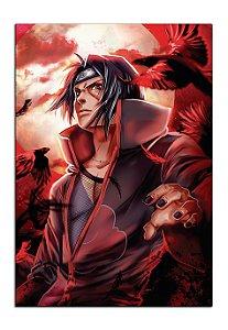 Quadro Decorativo Itachi: Naruto Personalizado Em Mdf