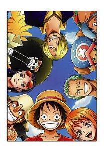 Quadro Decorativo One Piece Personalizado Em Mdf