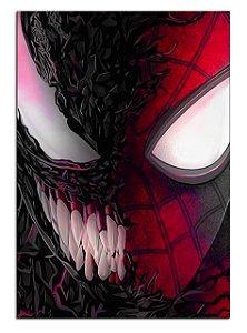 Quadro Decorativo Spider-Man e Venom Personalizado Em Mdf