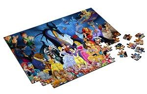 Quebra Cabeça Personagens Disney Com Caixa em MDF