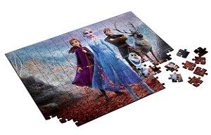 Quebra Cabeça Frozen 2 Personalizado Com Caixa em MDF