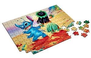 Quebra Cabeça Lilo e Stitch Com Caixa em MDF