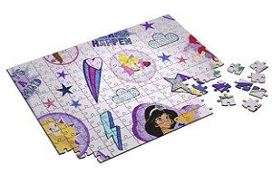 Quebra Cabeça Princesas Disney Com Caixa em MDF