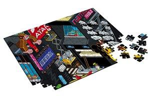 Quebra Cabeça Video-Game Town Com Caixa em MDF