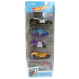 Carro Hot Wheels Pacote Presente Com 05 Street Beasts Mattel