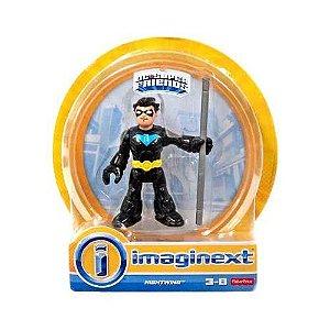 "Imaginext DC Super Friends Series 6 Nightwing Asa Noturna Suit 2.5"" Figure"